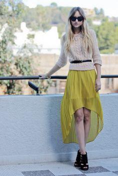 61e94cae0f7e2 Light skirt with heavier top I want a high low skirt!! Assymetrical Skirt