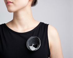 Yong Joo Kim / Brooch / Reconfiguring the Ordinary : Stacked and Twisted / Velcro and Sterling Silver