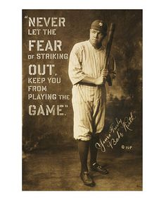 Never let the fear of striking out keep you from playing the game. #zulily #ad *great print