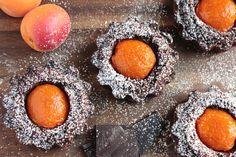chocolate and apricot tarts