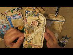 Vintage Junk Journal Tags Pockets Embellishment Kit - Sold - Thank you! - YouTube
