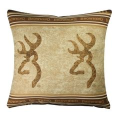71 best Browning Home Decor images on Pinterest   Browning buckmark     Browning Buckmark Deer Square Border Pillow