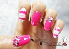 핑크로 가득한 네일아트~♡ :: 네이버 블로그