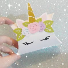 Unicorn gift box, entirely handmade - My Lovely Fairies Unicorn Wedding, Baby Wedding, Unicorn Birthday Parties, Diy Birthday, Fun Crafts For Kids, Diy And Crafts, Eid Cards, Wedding Party Invites, Handmade Christmas Gifts