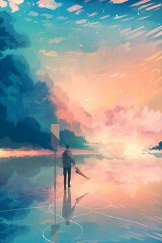 New drawing reference landscape ideas Aesthetic Art, Aesthetic Anime, Aesthetic Drawing, Wallpaper Animes, Illustration Art, Illustrations, Scenery Wallpaper, Environment Concept Art, Anime Scenery