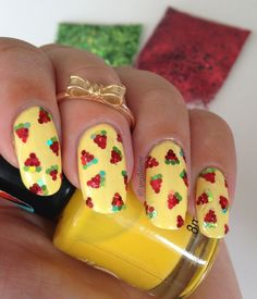 Sparkly Melon ;) nail art by Sparkly Nails by Spejldame