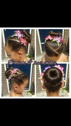 Cute updo for a little girl