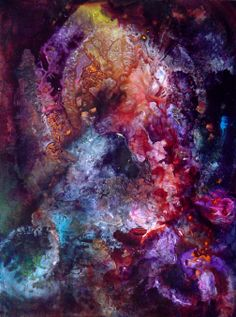 Abstract painting #2 by Ron Matzov. SOLD