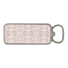 Cute pink white vintage floral design magnetic bottle opener - kitchen gifts diy ideas decor special unique individual customized