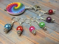 This beautiful rainbow stitch marker set will give your knitting a boost. The brilliant colors will grab your attention and remind you of every increase or decrease that you could forget without using