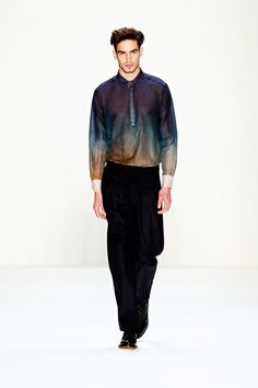 Love this shirt! Hien Le's 5th look from Mercedes Benz Fashion Week: Berlin 2013