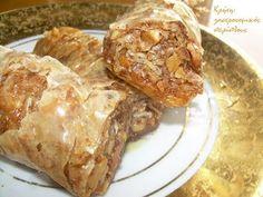 Ζουρναδάκια: τα κρητικά σαραγλάκια - cretangastronomy.gr Greek Sweets, Greek Desserts, Greek Recipes, Sweets Cake, French Toast, Pork, Beef, Breakfast, Cakes