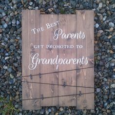 The Best Parents get promoted to Grandparents-Handmade Rustic Wood Sign with Picture Hangers,Gift for grandparents,mother's day,father's day by MadeWithYove on Etsy https://www.etsy.com/listing/241121255/the-best-parents-get-promoted-to