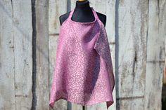 Meadow Purple linen nursing cover