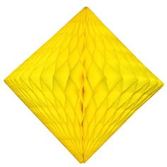 Giant 18 inch honeycomb diamond decoration in bright yellow. Made in USA by Devra Party. Yellow Party Decorations, Diamond Decorations, Table Centerpieces, Best Part Of Me, Honeycomb, Decorating Tips, Color Mixing, Backdrops, Balloons
