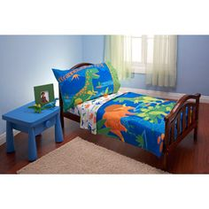 Everything for Kids Dinosaurs 4-piece Toddler Bedding Set  $34 online only