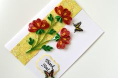 red+flower+quilled+greeting+card+thank+you+by+vaidaaa+on+Etsy,
