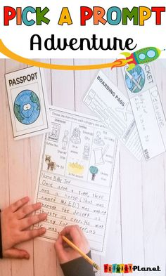 Click through to find great picture writing prompts for  #writing in your 2nd, 3rd, ELL, or homeschool students. These prompts also work great for special education students because of the images and writing supports.  Perfect for writing centers, writing workshop, substitute teachers, or fast finishers. Fun and engaging writing prompts! Click through now! #primaryplanet #WritingPrompts