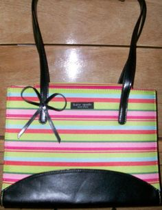 Another ugly counterfeit striped bow bag.