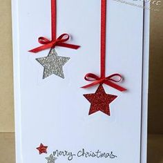 This holiday season hand out these DIY Christmas Cards to your loved ones and tell them how much you care. These Handmade Christmas cards are easy & cheap. Homemade Christmas Cards, Christmas Cards To Make, Homemade Cards, Christmas Decorations, Chrismas Cards, Christmas Star, Christmas Greetings Cards, Cricut Christmas Cards, Christmas Packages