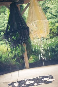 <3 these homemade chandeliers