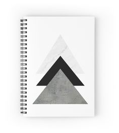 'Arrows Collages Monochrome' Spiral Notebook by by-jwp - - Diy Notebook Cover For School, Notebook School, Cute Notebooks For School, Notebook Cover Design, Notebook Covers, Journal Covers, Diy Back To School Supplies, School Suplies, Bookbinding Tutorial