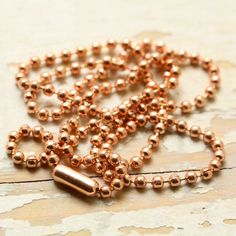 Items similar to or Solid Copper Necklace Ball Chain or Ball-Bar Chain with End Connector, Custom length, Genuine Copper Chain on Etsy Pure Copper, Copper Wire, Copper Necklace, Brass Chain, Beaded Bracelets, Necklaces, Pure Products, Unique Jewelry, Jewlery