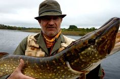 Pike fishing at Baronscourt, Omagh,  Co. Tyrone, Northern Ireland