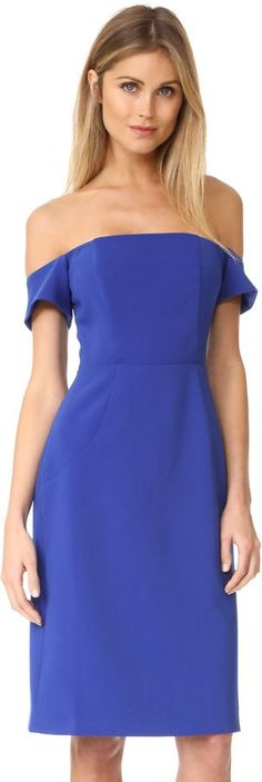 Bold blue off the shoulder / strapless dress, SO flatering!   BB Dakota R.S.V.P by BB Dakota Reaghan Dress