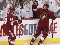 The Phoenix Coyotes home uniforms (2003-present)