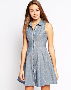Yumi Denim Ship Ahoy Shirt Dress