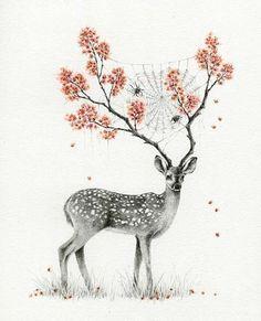 cherry blossom stag