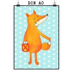 Poster DIN A0 Fuchs Laterne aus Papier 160 Gramm  weiß - Das Original von Mr. & Mrs. Panda.  Jedes wunderschöne Motiv auf unseren Postern aus dem Hause Mr. & Mrs. Panda wird mit viel Liebe von Mrs. Panda handgezeichnet und entworfen.  Unsere Poster werden mit sehr hochwertigen Tinten gedruckt und sind 40 Jahre UV-Lichtbeständig und auch für Kinderzimmer absolut unbedenklich. Dein Poster wird sicher verpackt per Post geliefert.    Über unser Motiv Fuchs Laterne  Die Fox Edition ist eine…
