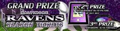 Win Ravens Seasons Tickets! Proceeds go to Baltimore Humane Society.  https://bhs.raffleready.com/raffle-of-champions
