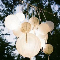 Des lanternes chinoises en papier