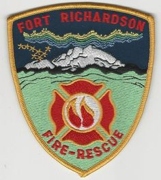 Fort Richardson Fire Department patch State Alaska AK patch