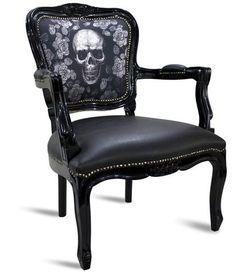 Skull Furniture, Gothic Furniture, Funky Furniture, Furniture Chairs, Gothic Chair, Dark Home Decor, Gothic Home Decor, Casa Mix, Goth Home
