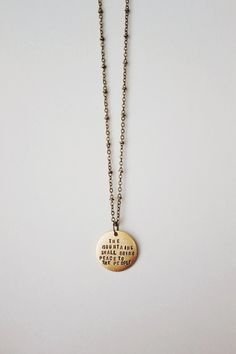 The Mountains Shall Bring Peace Necklace
