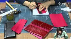 [가죽공예 GNL TV] 제8회 장지갑 만들기 Long ver. ( How To Make a leather breast wallet )