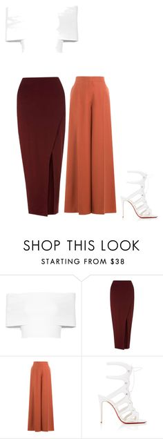 """Untitled #37"" by teesarkis on Polyvore featuring Rosetta Getty, Miss Selfridge, Valentino and Christian Louboutin"