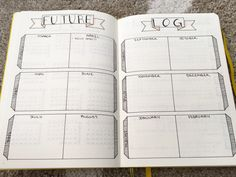 Future log for my bullet journal