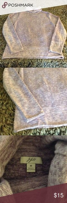 J. Jill Turtle Neck Top Medium, in excellent condition. Can be used as a sweater or top. The color is light purple J. Jill Tops Sweatshirts & Hoodies