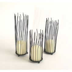 Dayna B. Willow Iron Candleholder 3-piece Set   Overstock.com Shopping - The Best Deals on Candles & Holders