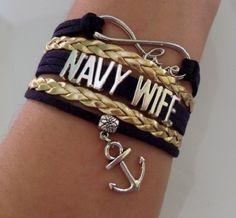Navy Wife bracelet Navy Wife jewelry Infinity navy by SummerWishes