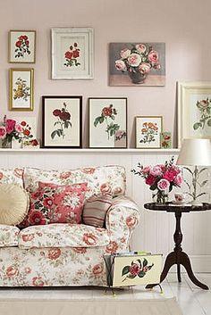 Eye For Design: Decorating Rose Patterned Interiors