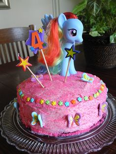 My little pony cake- cute for a girl's birthday!