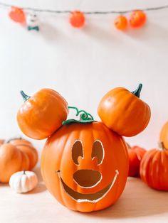How To Make A Mickey Mouse Pumpkin   studiodiy.com