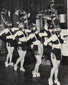 Gas mask dancers