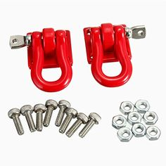 Hobby RC Crawlers - 2pcs Brand New High Quality Trailer BuckleHook For RC Car Truck Climber Crawler Simulation Climbing Car Trailer Tow Hook Buckle *** Click image to review more details.