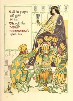 Walter Crane -A floral fantasy in an old English garden Walter Crane, English Artists, Flower Fairies, Arts And Crafts Movement, Children's Literature, Old English, Art Sketchbook, Female Art, Art Nouveau